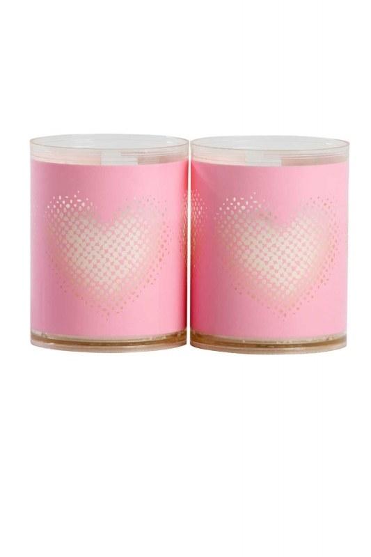 ديكور ، الإضاءة الوردي مع القلب