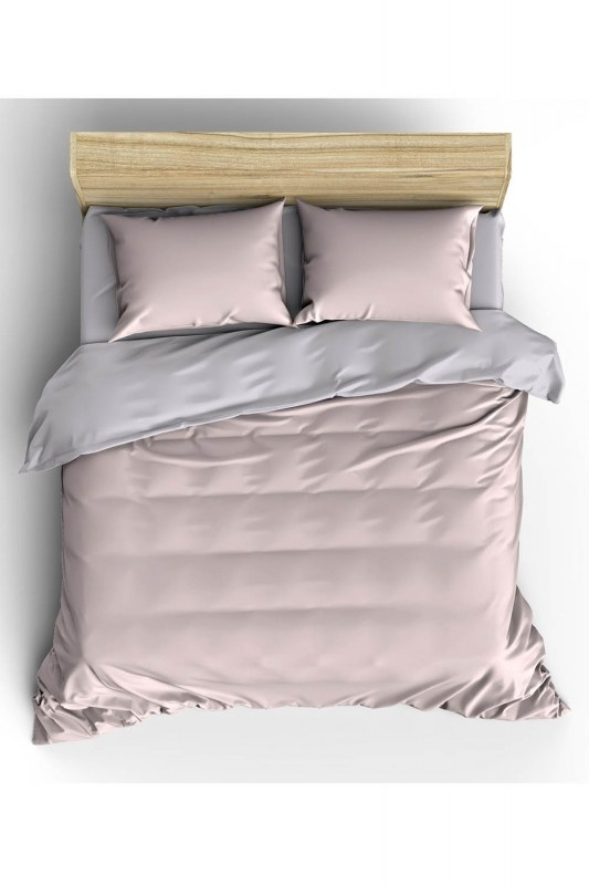 Pink/Grey Double Linens Set (200X220)