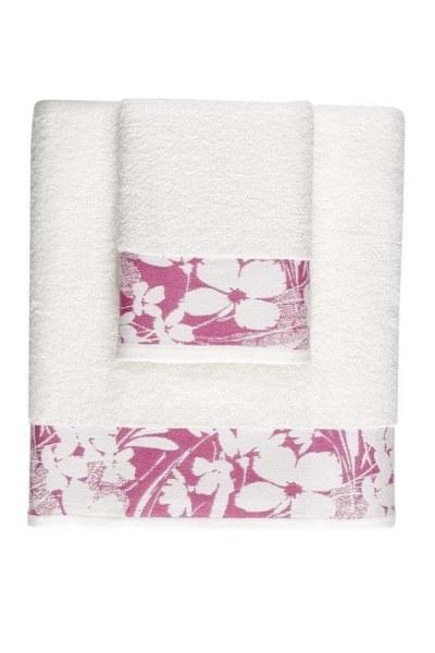 MIZALLE منشفة جاكار حمام (100X150) (وردي)