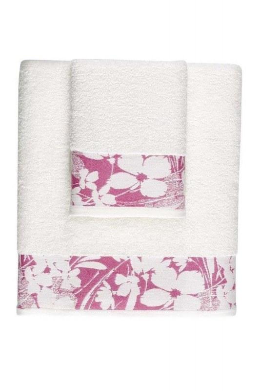 منشفة جاكار حمام (100X150) (وردي)
