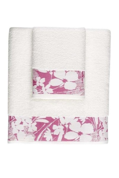 MIZALLE Jacquard Bath Towel (100X150) (Pink)
