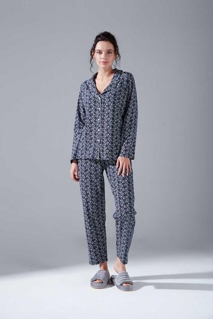 Mizalle - Penye Pijama Takımı (Çiçekli)