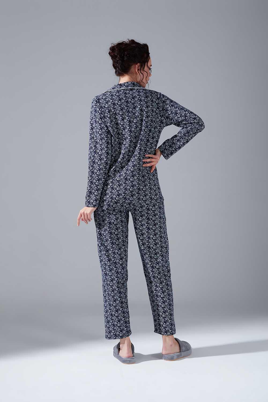 Penye Pijama Takımı (Çiçekli)