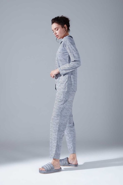 Penye Pijama Takımı (Çizgili) - Thumbnail