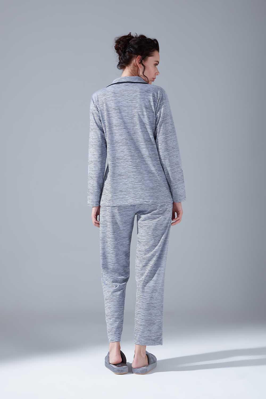 Penye Pijama Takımı (Çizgili)