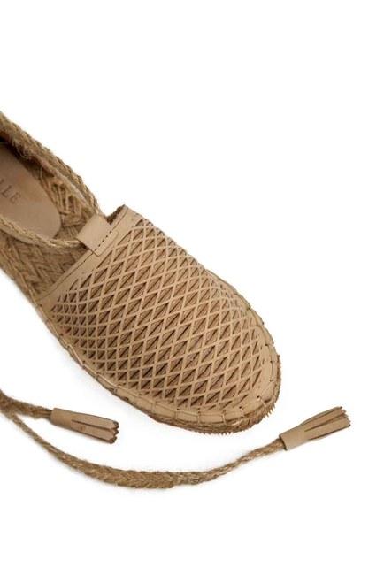 Petek Örgülü Nubuk Ayakkabı (Bej) - Thumbnail