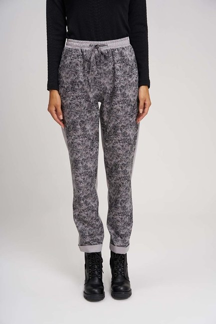 Piece Detailed Design Trousers (Grey) - Thumbnail