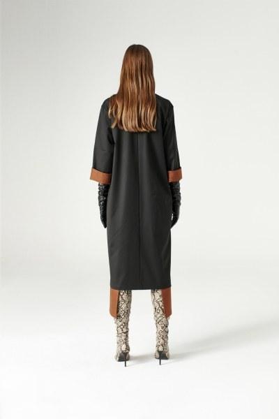 فستان مفصل بقطع ( أسود ) - Thumbnail