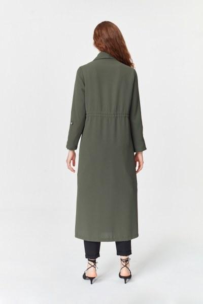 Pike Textured Trenchcoat (Khaki) - Thumbnail