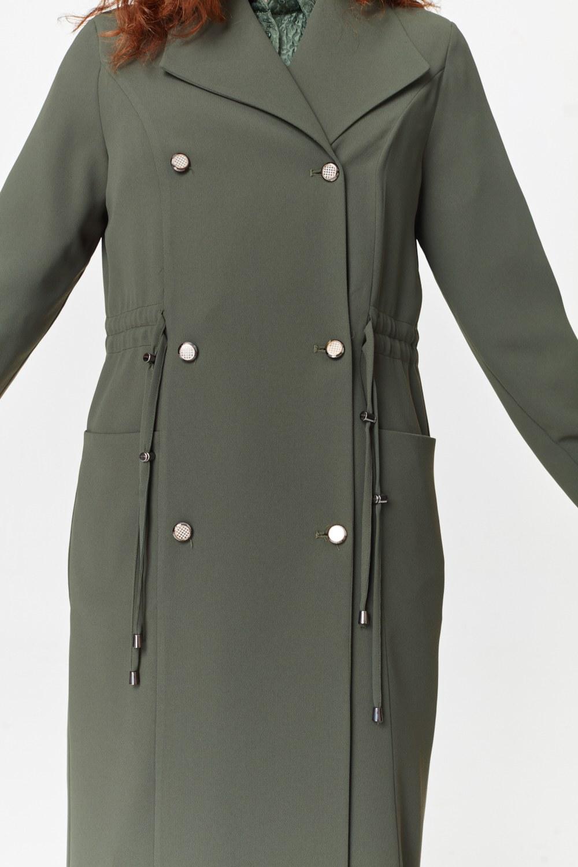 MIZALLE Pike Textured Trenchcoat (Khaki) (1)