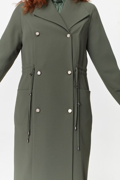 MIZALLE - Pike Textured Trenchcoat (Khaki) (1)