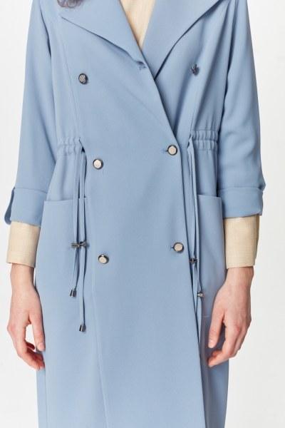 معطف الخندق مع أنسجة بايك (اللون النيلي) - Thumbnail