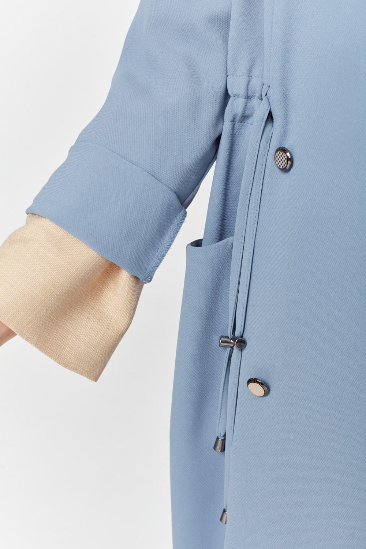 MIZALLE Pike Textured Trenchcoat (Indigo) (1)