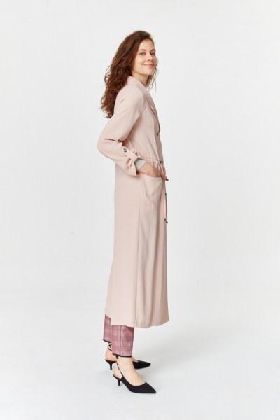 معطف الخندق مع أنسجة بايك (وردي فاتح) - Thumbnail