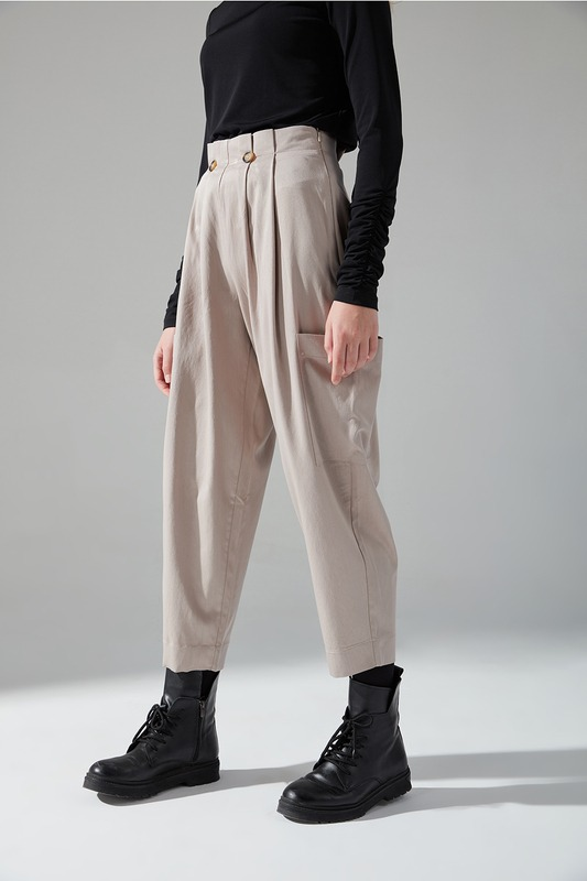 Pile Cepli Pantolon (Bej)