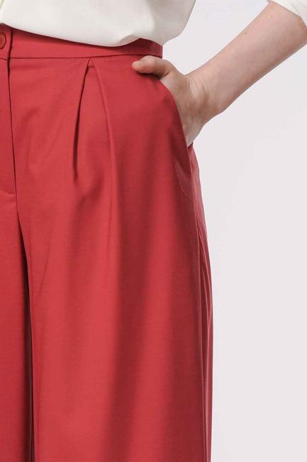 Pileli Premium Pantolon (Kiremit) - Thumbnail