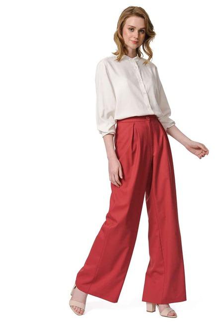 Mizalle - Pileli Premium Pantolon (Kiremit)