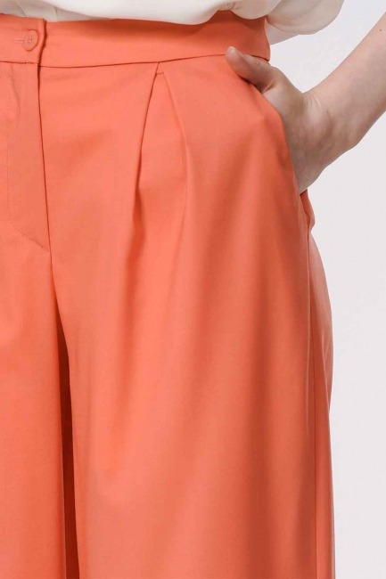Pleated Premium Trousers (Salmon) - Thumbnail