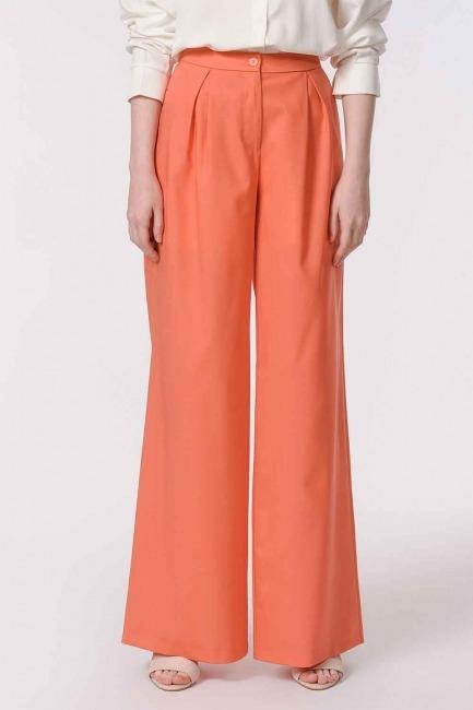 MIZALLE - Pileli Premium Pantolon (Somon) (1)
