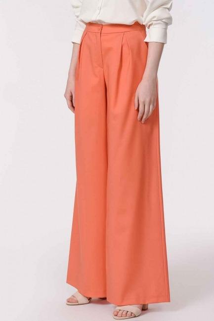 Pileli Premium Pantolon (Somon) - Thumbnail