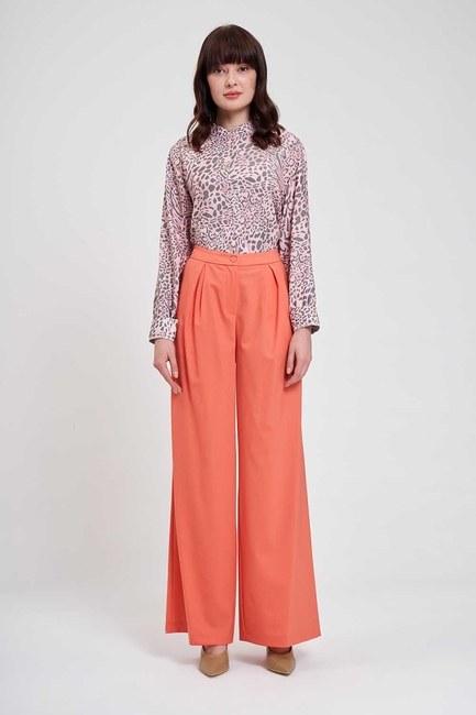 Mizalle - Pileli Premium Pantolon (Somon)