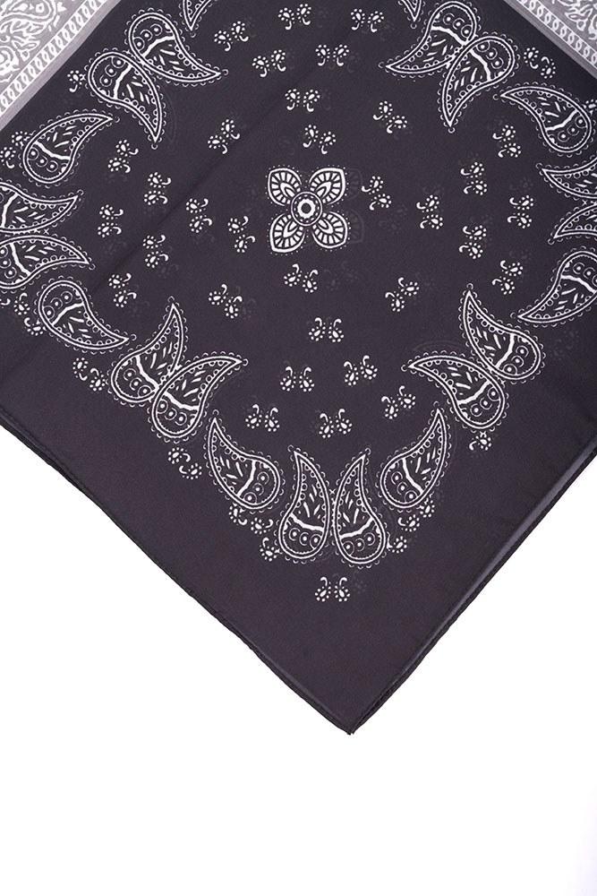 Piliseli Desenli Fular (Siyah)