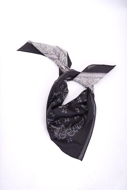 Mizalle - Piliseli Desenli Fular (Siyah)