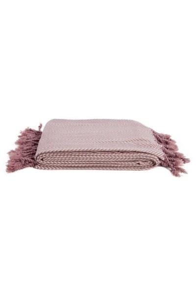 MIZALLE HOME شال المقعد الوردي (130x170)
