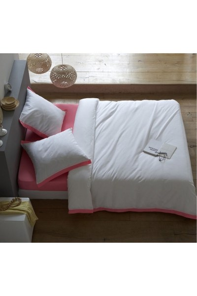 Pink/White Double Linens Set (200X220) - Thumbnail