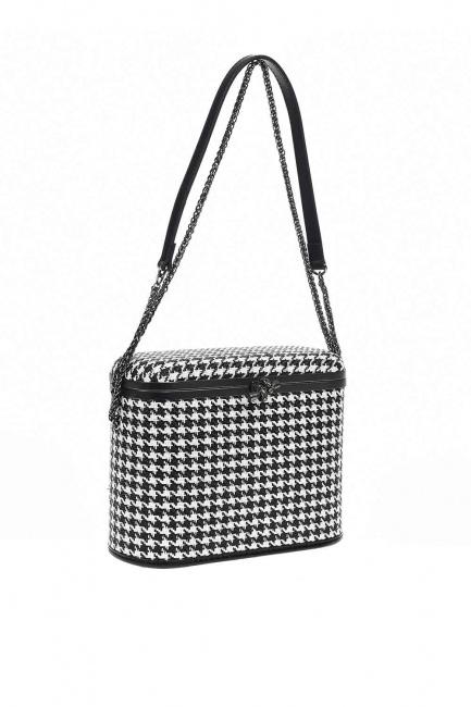 حقيبة كتف على شكل مربع ، مربعة الشكل (أسود) - Thumbnail