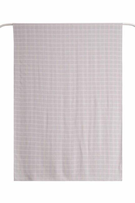 Plaid Shawl (Light Grey) - Thumbnail