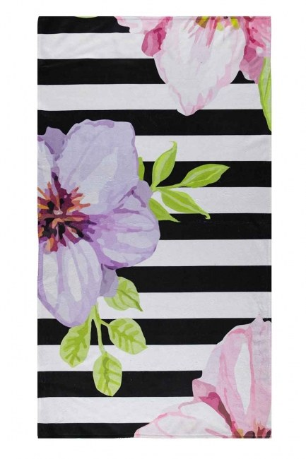 MIZALLE - منشفة الشاطئ (نمط الأزهار) (1)