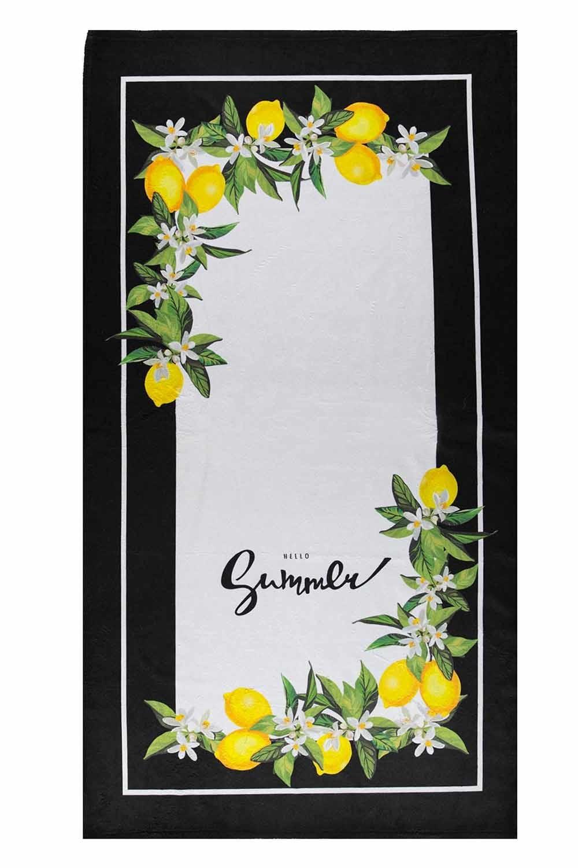 MIZALLE منشفة الشاطئ (زهرة الليمون) (1)