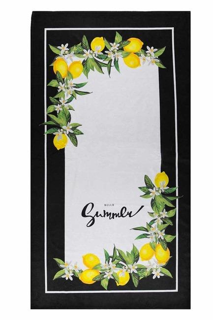 MIZALLE HOME - منشفة الشاطئ (زهرة الليمون) (1)