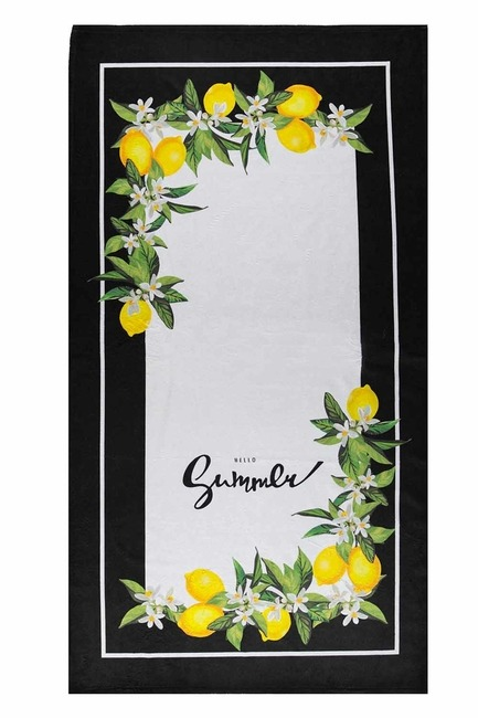 MIZALLE HOME - Beach Towel (Lemon) (1)