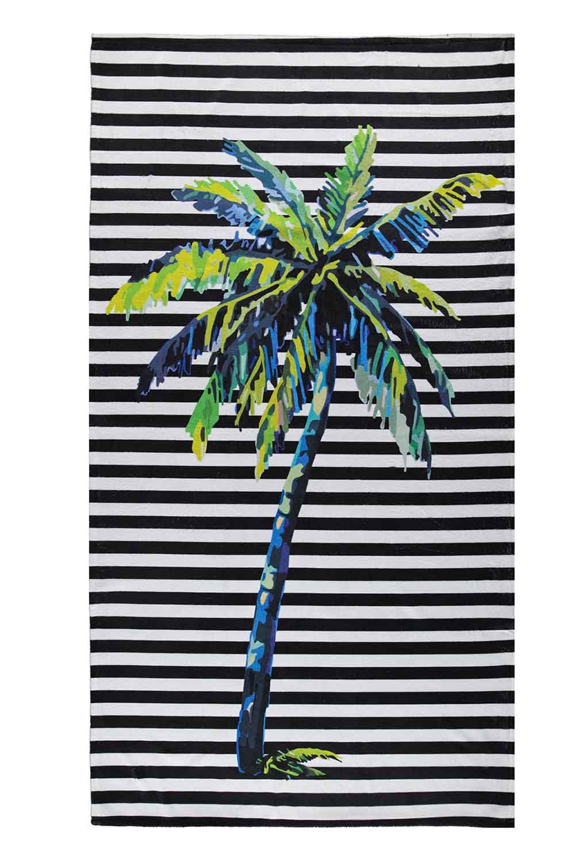 MIZALLE Beach Towel (Palm) (1)