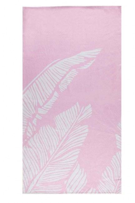 MIZALLE - Beach Towel (Pink) (1)