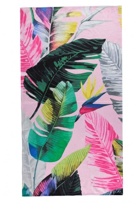 MIZALLE HOME - Beach Towel (Leaf) (1)