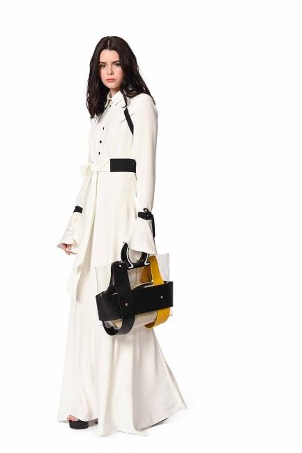 MIZALLE - حقيبة يد شفافة مع مقبض بلاستيكي (أصفر) (1)
