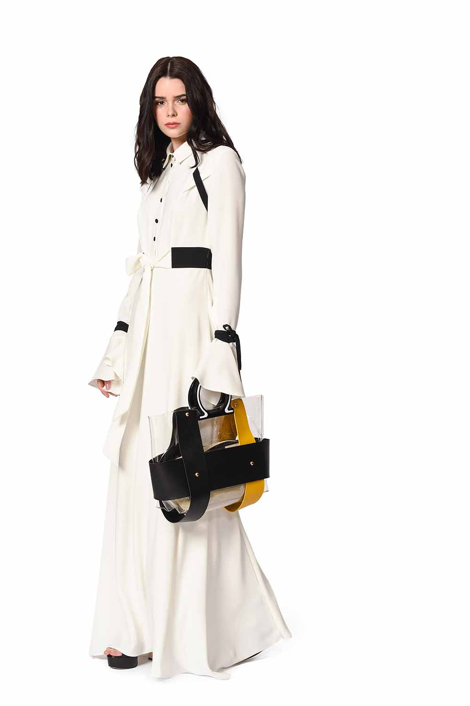 MIZALLE Transparent Hand Bag (Yellow) (1)
