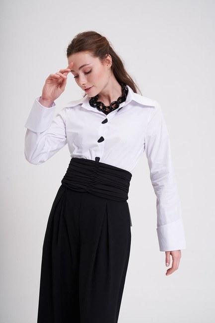 MIZALLE - Pleated Belt (Black) (1)