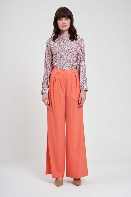 MIZALLE - Pleated Premium Trousers (Salmon) (1)