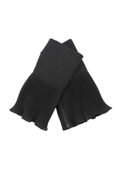 Pliseli Tamamlayıcı Kolluk (Siyah) - Thumbnail
