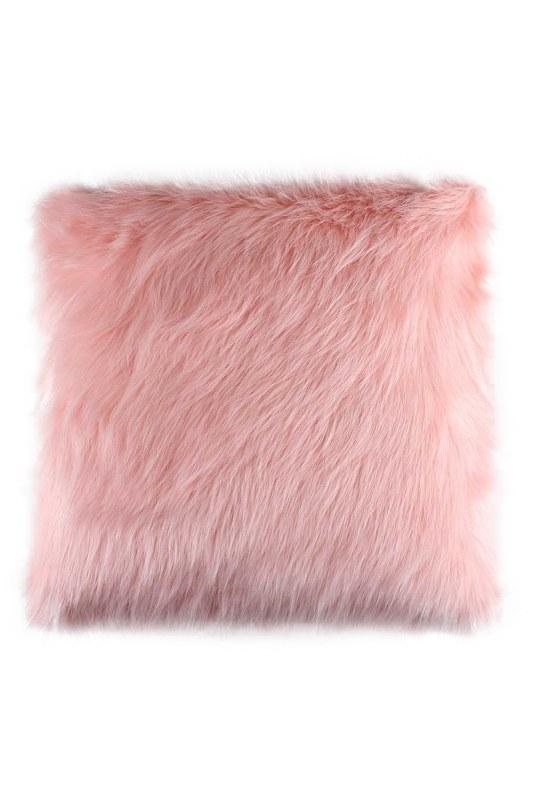 Plush Furry Pink Pillow Case (43X43)