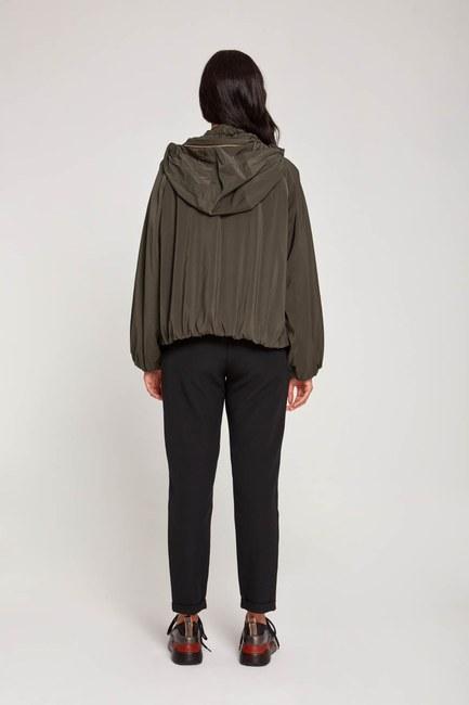 Plush-Lined Short Jacket (Khaki) - Thumbnail