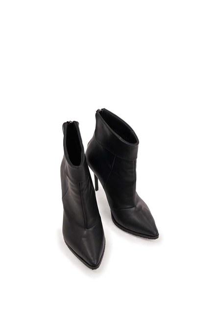 حذاء مستقيم حاد من الامام (أسود) - Thumbnail