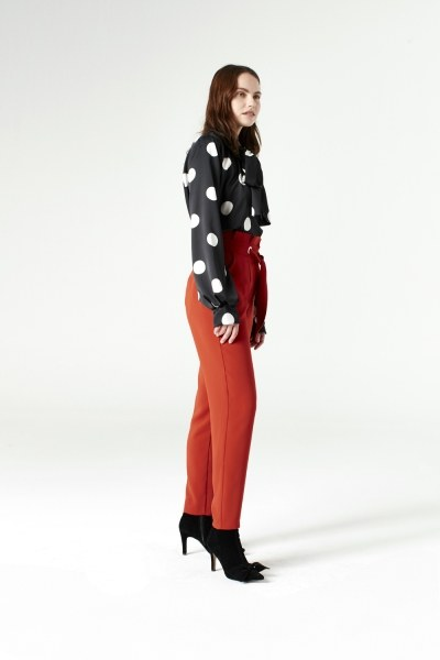 Polka Dot Shirt (Black) - Thumbnail