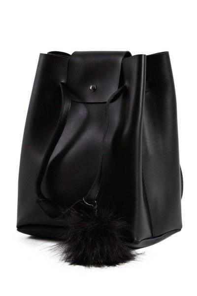 MIZALLE أضاليا مفصلة ، مربع ، حقيبة الكتف (أسود)