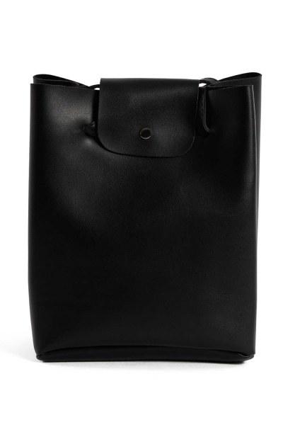 Pompon Detailed Square Shoulder Bag (Black) - Thumbnail