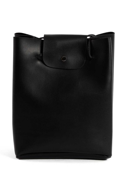 Pompon Detailed Square Shoulder Bag (Black) - Thumbnail